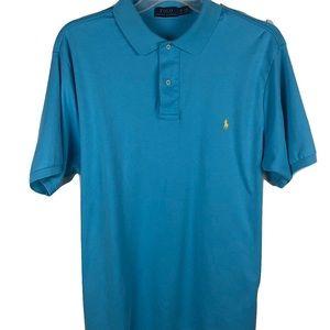 Polo Ralph Lauren Soft Touch Shirt Blue Mens XLT